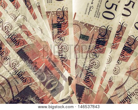 Vintage Fifty Pound Notes