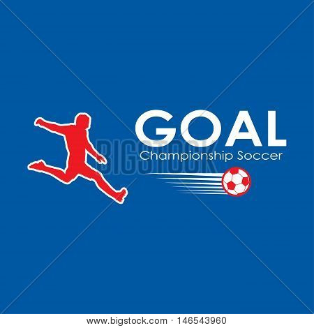 Soccer Goal winner France. Soccer goal icon. Champions Leagua Football Goal Player. Soccer ball logo. 2016 European Championship soccer win. Abstract winner soccer. Football winner. Vector banner Europa 2016 champions. World Cup