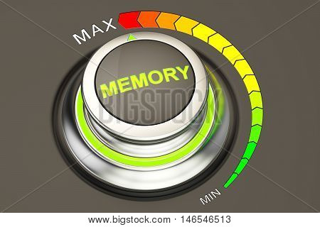 high level memory concept 3D rendering, knob