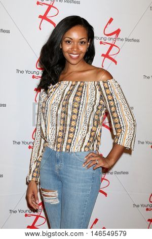LOS ANGELES - SEP 8:  Mishael Morgan at the Young and The Resltless 11,000 Show Celebration at the CBS Television City on September 8, 2016 in Los Angeles, CA
