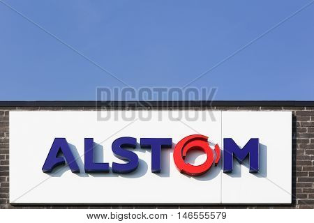Fredericia, Denmark - September 10, 2016: Alstom is a French multinational company operating worldwide in rail transport markets with products like tgv and eurostars