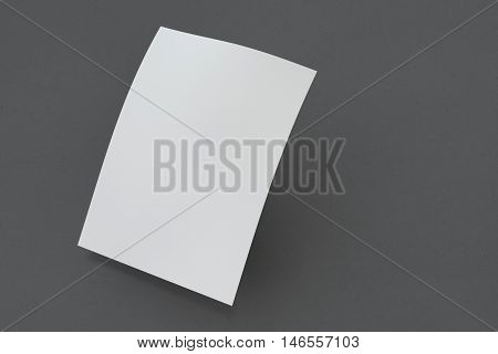 Mock up poster on dark background. 3D rendering poster standart format A5 / A4 / A3 / A2 / A1/ A0. Three-dimensional rendering.