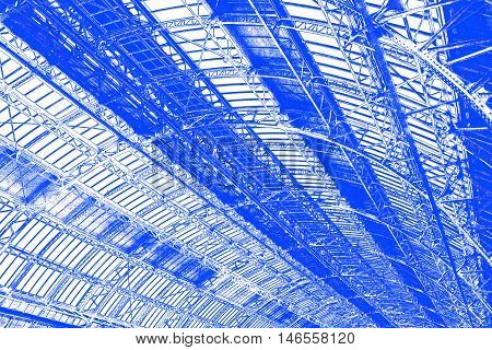 Industrial Roof In Blue
