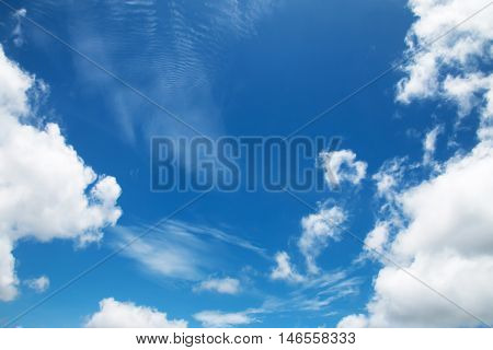 White clouds in the sky Sky background.