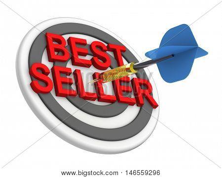 The concept of bestseller sign. 3D illustration.