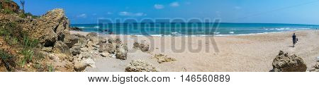 Panoramic View Of A Beach