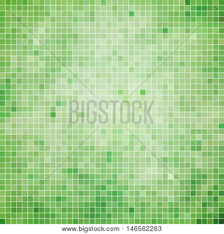 abstract vector square pixel mosaic background - pale green