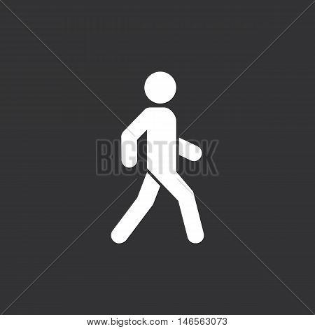 Man walk icon. White background. Vector illustration