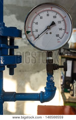 The Pipe valve water connection on industry.