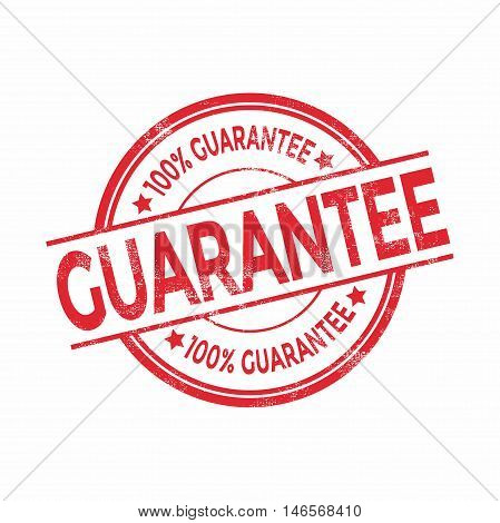Guarantee red rubber stamp isolated. vector illustration