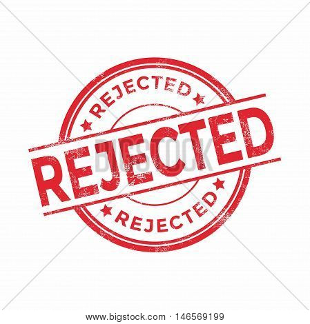 Rejected red rubber stamp isolated. vector illustration