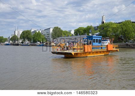 TURKU, FINLAND - JUNE 13, 2015: Passenger ferry