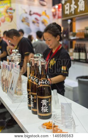 Barman Or Bartender Of Japan Liquor At The Bar