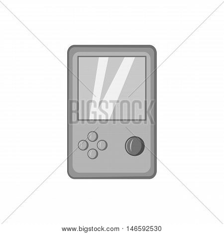 Tetris icon in black monochrome style isolated on white background. Games and toys symbol vector illustration