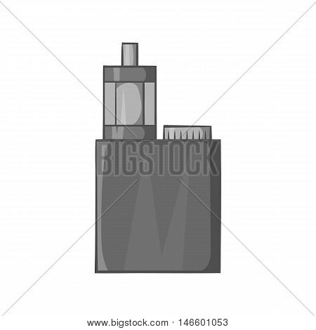 Mod and clearomizer in the kit icon in black monochrome style isolated on white background. Smoking symbol vector illustration