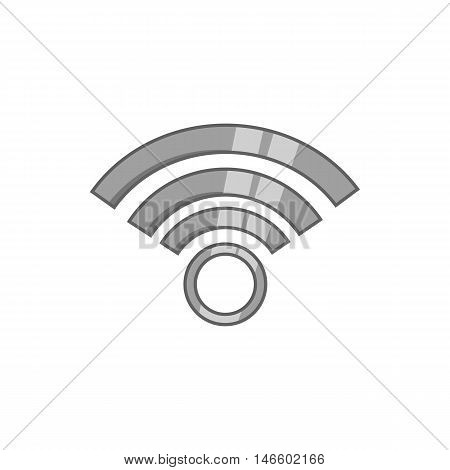 Wi-fi icon in black monochrome style isolated on white background. Network symbol vector illustration