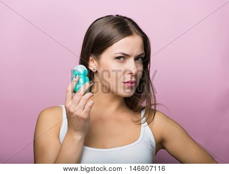 Woman With A Deodorant