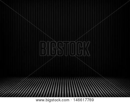 black iron interior background