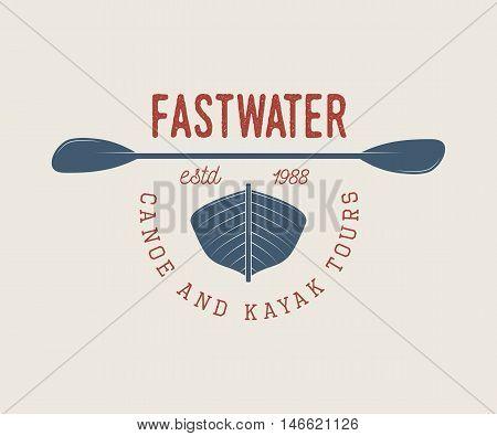 Vintage rafting or boat rental logo labels and badges. Graphic Art. Vector Illustration.