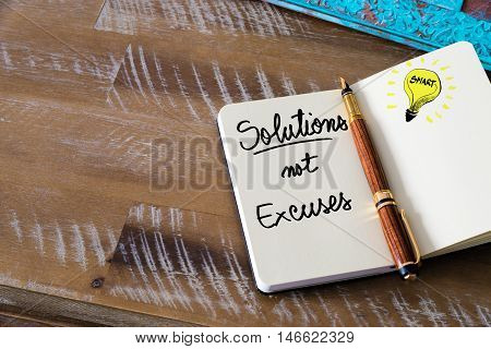 Written Text Solutions Not Excuses