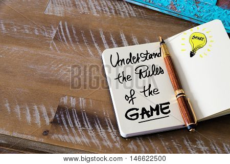 Written Text Understand The Rules Of The Game