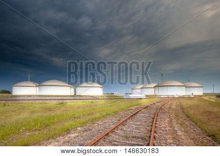 Railroad To An Oil Tank Terminal