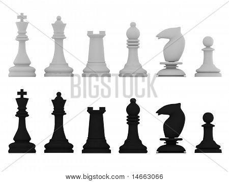 Black And White Chessman