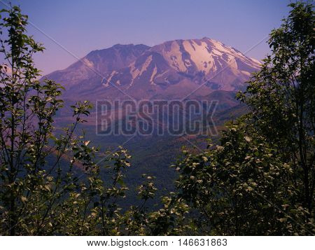 View of Mt. St. Helen in Washington state