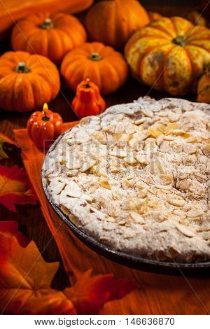 Delicious apple pie for Thanksgiving
