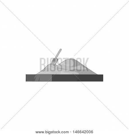 Sandbox icon in black monochrome style on a white background vector illustration