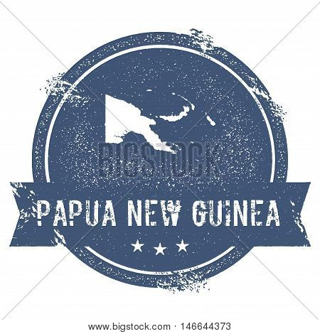 Papua New Guinea Mark. Travel Rubber Stamp With The Name And Map Of Papua New Guinea, Vector Illustr