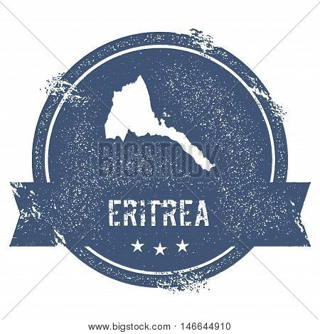 Eritrea Mark. Travel Rubber Stamp With The Name And Map Of Eritrea, Vector Illustration. Can Be Used