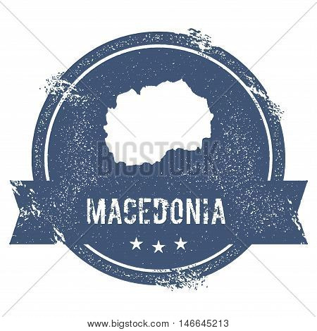 Macedonia, The Former Yugoslav Republic Of Mark.. Travel Rubber Stamp With The Name And Map Of Maced