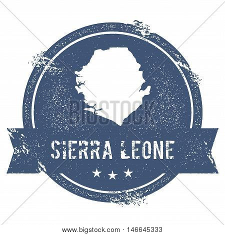 Sierra Leone Mark. Travel Rubber Stamp With The Name And Map Of Sierra Leone, Vector Illustration. C