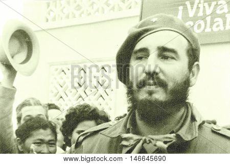 Yangiyer Uzbekistan - May 11 1963: Residents welcomed Fidel.