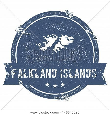 Falkland Islands (malvinas) Mark.. Travel Rubber Stamp With The Name And Map Of Falkland Islands (ma