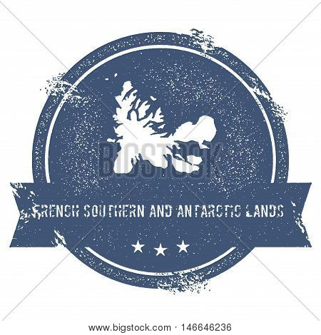 French Southern Territories Mark.. Travel Rubber Stamp With The Name And Map Of French Southern Terr