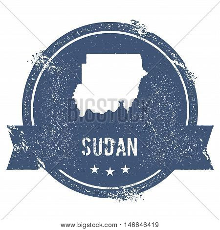 Sudan Mark. Travel Rubber Stamp With The Name And Map Of Sudan, Vector Illustration. Can Be Used As