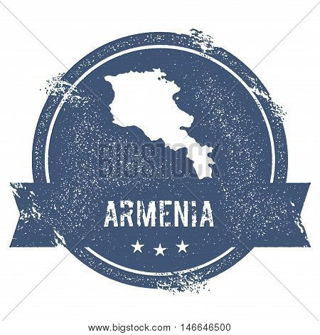 Armenia Mark. Travel Rubber Stamp With The Name And Map Of Armenia, Vector Illustration. Can Be Used