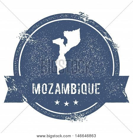 Mozambique Mark. Travel Rubber Stamp With The Name And Map Of Mozambique, Vector Illustration. Can B