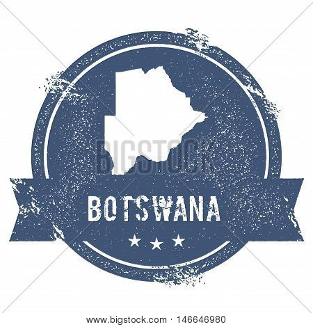 Botswana Mark. Travel Rubber Stamp With The Name And Map Of Botswana, Vector Illustration. Can Be Us