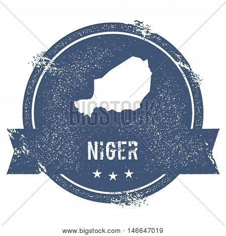 Niger Mark. Travel Rubber Stamp With The Name And Map Of Niger, Vector Illustration. Can Be Used As