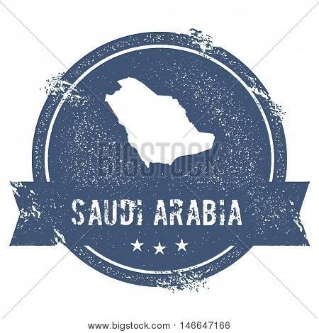 Saudi Arabia Mark. Travel Rubber Stamp With The Name And Map Of Saudi Arabia, Vector Illustration. C