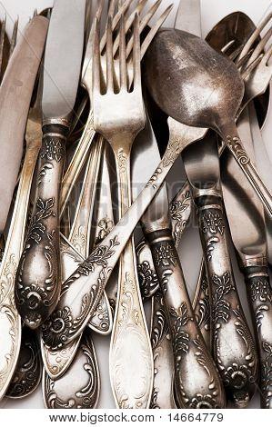 Vintage Spoon Fork Knife