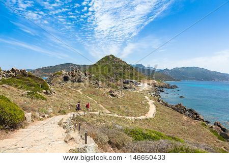 Sanguinaires Bloodthirsty Islands Hiking Path In Corsica, France