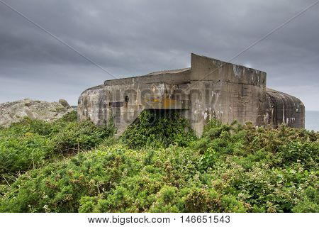 Fortification built on Guernsey by the occupying German Forces during WW2