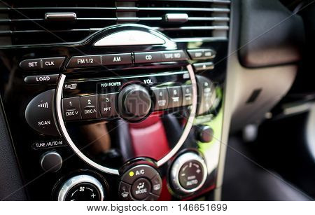 Modern Car stereo system front control panel
