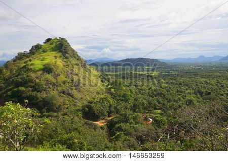 The view from the top of the mountain Ceylon after the rain