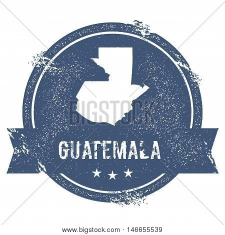 Guatemala Mark. Travel Rubber Stamp With The Name And Map Of Guatemala, Vector Illustration. Can Be