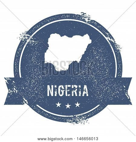Nigeria Mark. Travel Rubber Stamp With The Name And Map Of Nigeria, Vector Illustration. Can Be Used